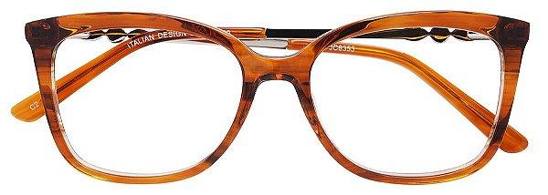Armação Óculos Receituário AT 6353 Marrom Transparente