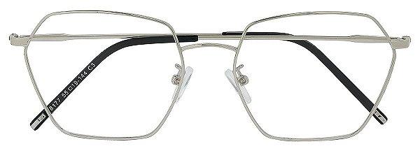 Armação Óculos Receituário AT 8177 Prata