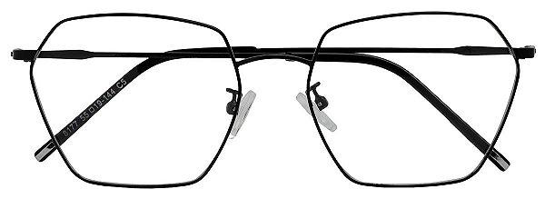 Armação Óculos Receituário AT 8177 Preto
