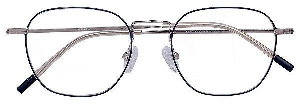 Armação Óculos Receituário AT 9112 Cinza/Prata
