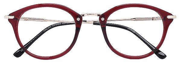Armação Óculos Receituário AT 9085 Vinho