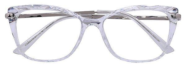 Armação Óculos Receituário AT 5597 Mosaico Quadrado Transparente
