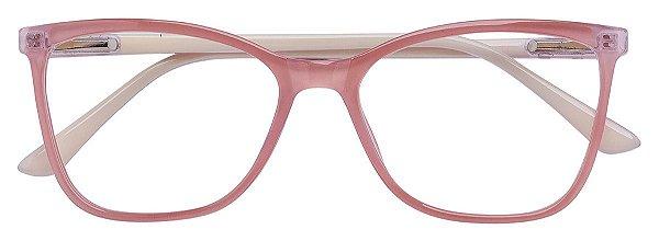 Armação Óculos Receituário AT 3341 Rosa/Branco