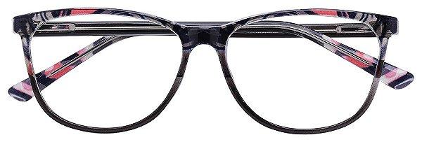 Armação Óculos Receituário AT 3326 Animal Print Preto