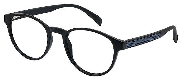 Armação Óculos Receituário AT 1044 Preto/Azul