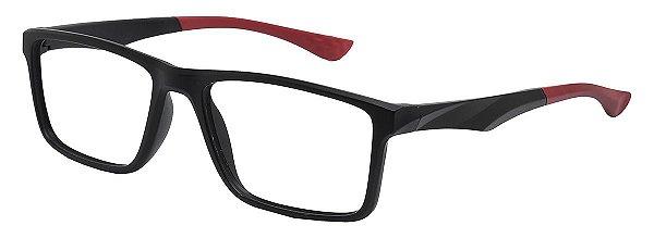Armação Óculos Receituário AT 1007 Preto/Vermelho