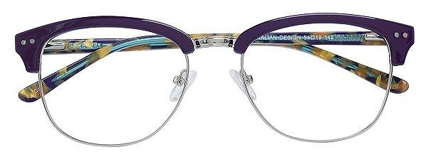 Armação Óculos Receituário AT 6307 ClubMaster Roxo/Tartaruga