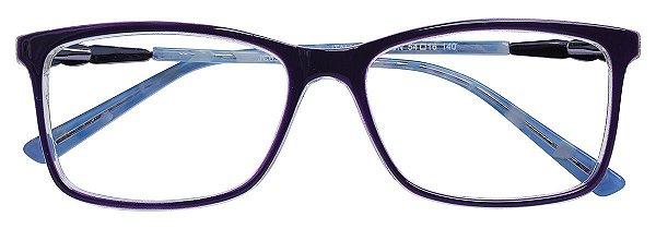 Armação Óculos Receituário AT 6320 Vinho/Azul