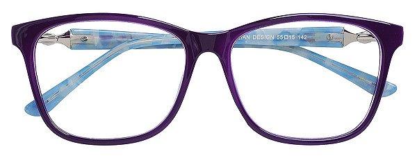 Armação Óculos Receituário AT 6319 Vinho/Azul