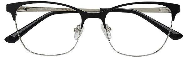 Armação Óculos Receituário AT 811001 Preto/Prata