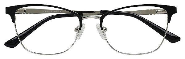 Armação Óculos Receituário AT 811011 Preto/Prata