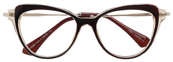 Armação Óculos Receituário AT 5584 Marrom