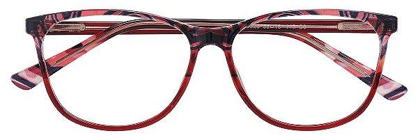 Armação Óculos Receituário AT 3326 Animal Print Vinho
