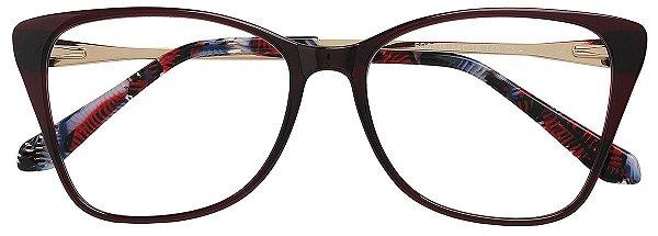 Armação Óculos Receituário AT 6335 Vinho