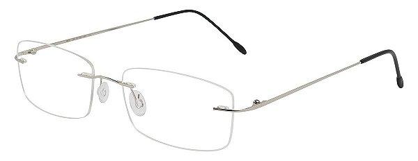 Armação Óculos Receituário AT 853 Prata Titanium