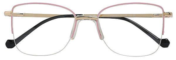 Armação Óculos Receituário AT 55502 Rosa/Dourado