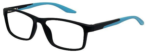 Armação Óculos Receituário AT 1024 Preto/Azul