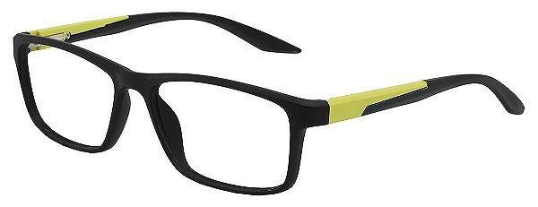 Armação Óculos Receituário AT 1024 Preto/Verde