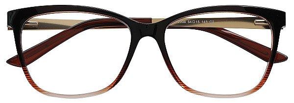 Armação Óculos Receituário AT 2006 Animal Print Marrom Degradê