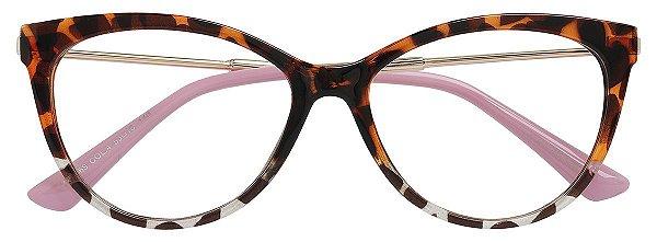 Armação Óculos Receituário AT 5569 Animal Print