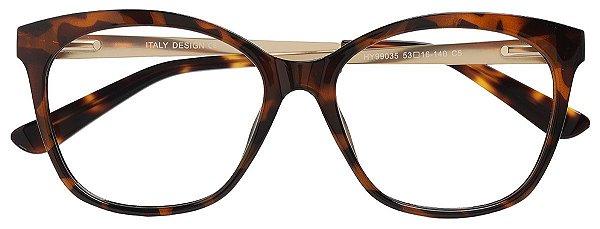 Armação Óculos Receituário AT 99035 Animal Print Marrom