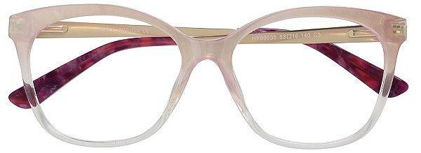 Armação Óculos Receituário AT 99035 Nude Degradê Transparente