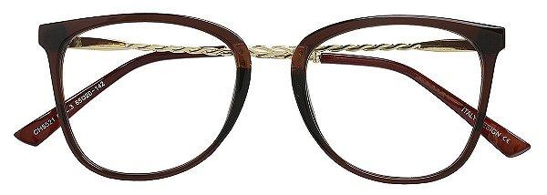 Armação Óculos Receituário AT 5521 Marrom