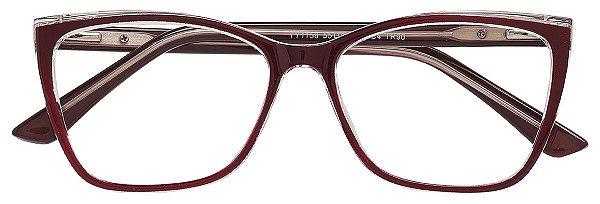 Armação Óculos Receituário AT 1158 Vinho
