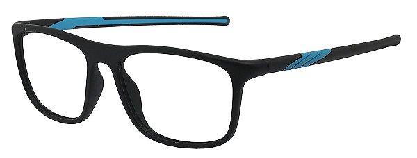 Armação Óculos Receituário AT 1032 Preto/Azul