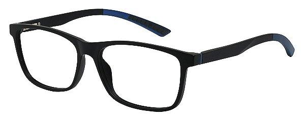 Armação Óculos Receituário AT 1023 Preto/Azul