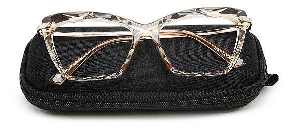Case Estojo para Óculos Receituário Com Zíper