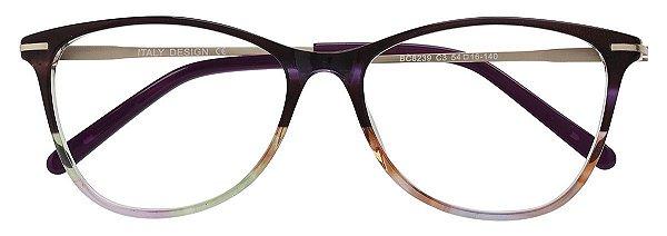 Armação Óculos Receituário AT 8239 Vinho Mesclado