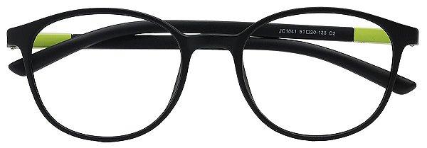 Armação Óculos Receituário AT 1041 Preto/Verde