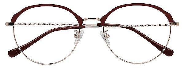 Armação Óculos Receituário AT 9130 Marrom/Cobre