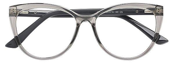 Armação Óculos Receituário AT 2039 Cinza Transparente