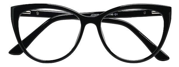Armação Óculos Receituário AT 2039 Preto