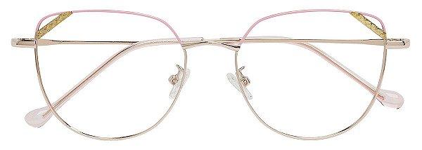 Armação Óculos Receituário AT 6030 Rosa/Prata