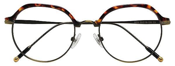 Armação Óculos Receituário AT 3033 Tartaruga