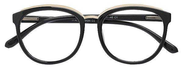 Armação Óculos Receituário AT 4148 Preto