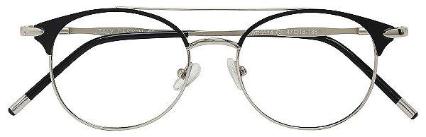Armação Óculos Receituário AT 5514 Preto/Prata