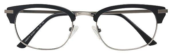 Armação Óculos Receituário AT 90075 Preto/Chumbo