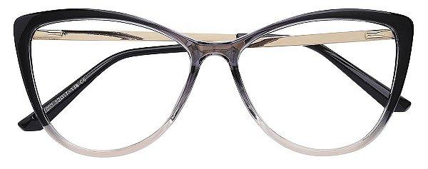 Armação Óculos Receituário AT 007 Preto Degradê