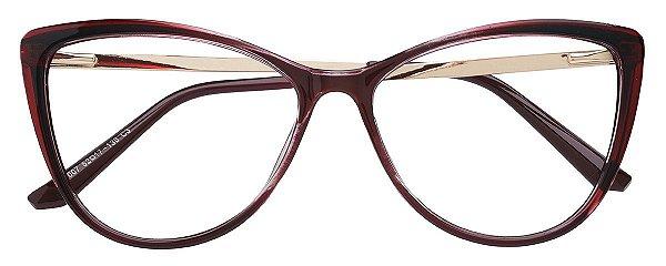 Armação Óculos Receituário AT 007 Vinho