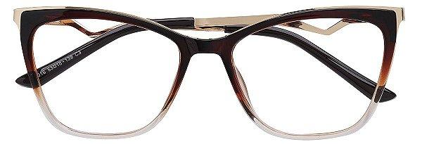 Armação Óculos Receituário AT 016 Marrom Degradê