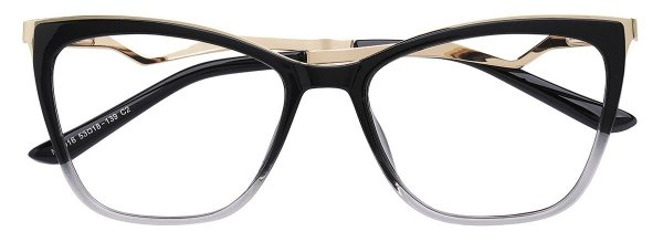 Armação Óculos Receituário AT 016 Preto Degradê
