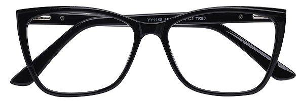 Armação Óculos Receituário AT 1158 Preto