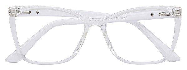 Armação Óculos Receituário AT 1158 Transparente/Branco