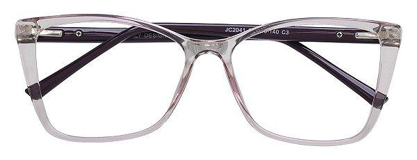 Armação Óculos Receituário AT 2025 Lilás Transparente