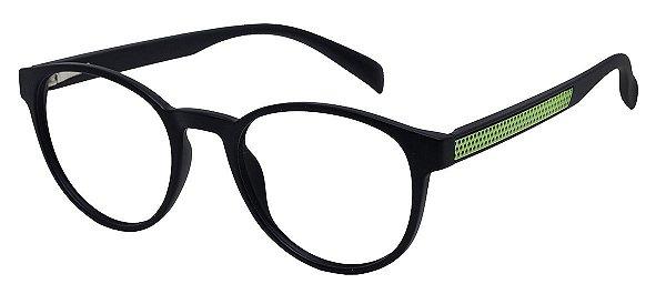 Armação Óculos Receituário AT 1044 Preto/Verde