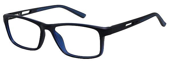 Armação Óculos Receituário AT 1004 Preto/Azul